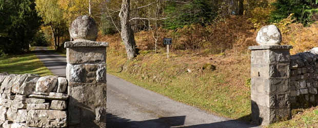 Entrance to Craiganour Estate