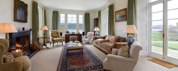 Craiganour Lodge drawing room