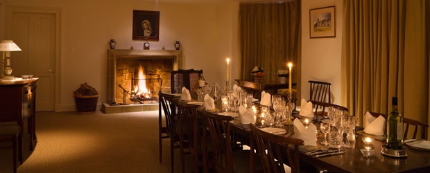 Craiganour Lodge dining room